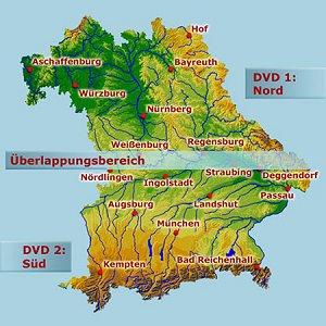 Topographische Karte Bayern.Magicmaps Interaktive Kartenwerke Bayern 3d Set Nord Süd