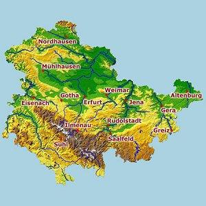 topographische karte thüringen MagicMaps: Interaktive Kartenwerke   Thüringen 3D   Topographische  topographische karte thüringen