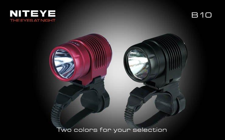 niteye b10 schwarz led fahrradlampe mit 600 ansi lumen. Black Bedroom Furniture Sets. Home Design Ideas