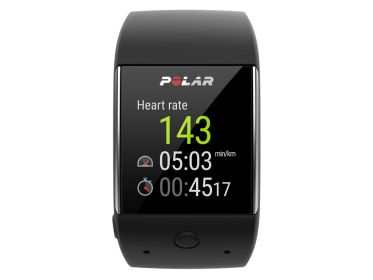 Polar M600 Smartwatch, schwarz - Smartwatch mit Android Wear und Polar Trainingsfunktionen
