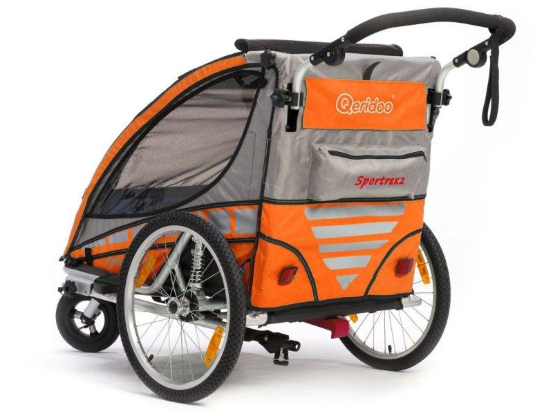 qeridoo sportrex2 2016 orange kinderfahrradanh nger mit. Black Bedroom Furniture Sets. Home Design Ideas