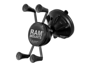 Ram Mount Mighty-Buddy, Universal X-Grip Halter mit Saugfuss (RAP-SB-224-2-UN7) für Apple iPhone 8