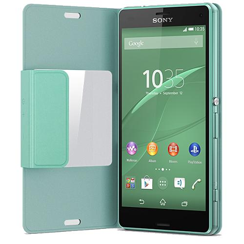 sony cover scr26 gr n f r sony xperia z3 compact pda max. Black Bedroom Furniture Sets. Home Design Ideas