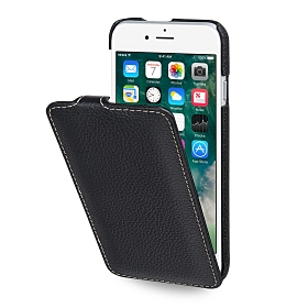 Stilgut UltraSlim Flip-Style Ledertasche für Apple iPhone 8