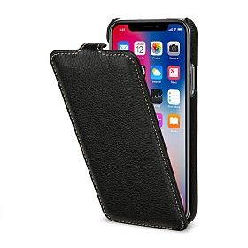 Stilgut UltraSlim Flip-Style Ledertasche für Apple iPhone X
