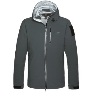 Tasmanian Tiger TT Dakota Rain Ms Jacket MKII, Regenjacke, darkest grey, Größe XS