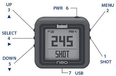 Bushnell Gps Entfernungsmesser : Bushnell neo ghost schwarz golf gps gerät mit