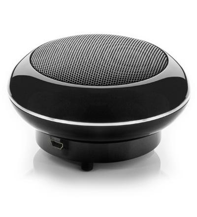 sounddisc schwarz mini lautsprecher mit akku und. Black Bedroom Furniture Sets. Home Design Ideas